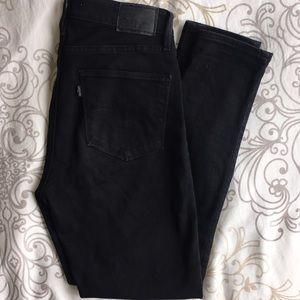 Levi's Black 721 High Rise Skinny Jeans 28